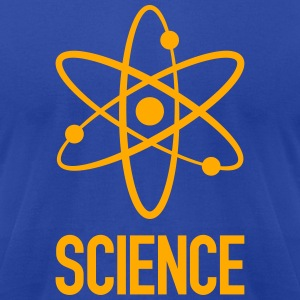 Atom sign w/ Science T-Shirts - Men's T-Shirt by American Apparel