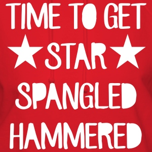 Time To Get Star Spangled Hammered Hoodies - Women's Hoodie