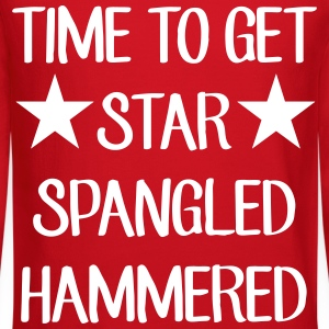 Time To Get Star Spangled Hammered Long Sleeve Shirts - Crewneck Sweatshirt