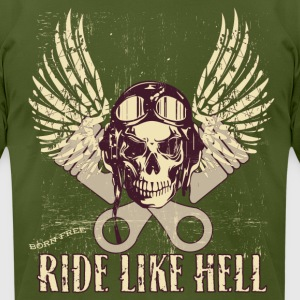 Ride Like Hell - Men's T-Shirt by American Apparel