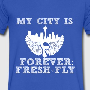 My City is Forever: Fresh and Fly - Men's V-Neck T-Shirt by Canvas