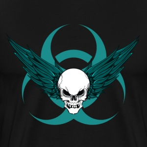 Winged Skull & Biohazard T-Shirts - Men's Premium T-Shirt