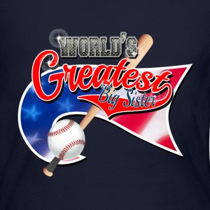 Worlds Greast Big Sister Baseball Park Flag USA Long Sleeve Shirts - Women's Long Sleeve Jersey T-Shirt