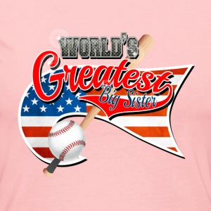 Worlds Greast Big Sister Baseball Park Flag USA 2 Long Sleeve Shirts - Women's Long Sleeve Jersey T-Shirt