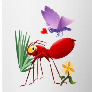 Fire Ant and Purple Butterfly-Love is in the air. - Contrast Coffee Mug