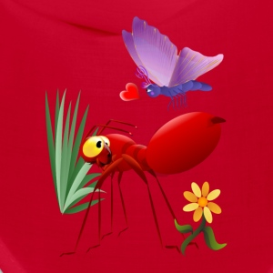 Fire Ant and Purple Butterfly-Love is in the air. - Bandana