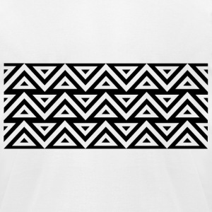 Triangles - Men's T-Shirt by American Apparel
