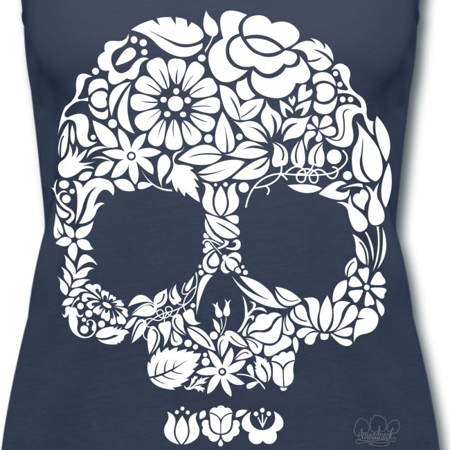 Women's Floral Skull Tank