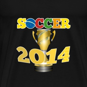 Soccer 2014 Trophy - Men's Premium T-Shirt