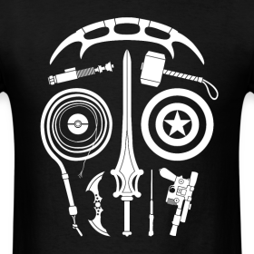 Design ~ Sci-Fi Weapon Skull T-Shirt