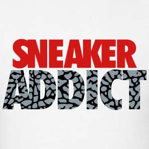 sneaker addict text cement T-Shirts - Men's T-Shirt