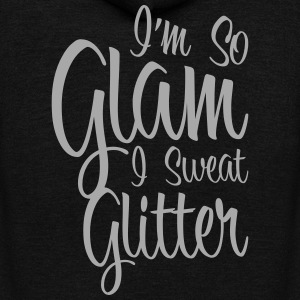 So Glam I Sweat Glitter Zip Hoodies & Jackets - Unisex Fleece Zip Hoodie by American Apparel