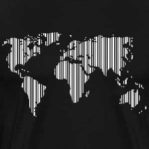 World as a barcode Shirt - Men's Premium T-Shirt