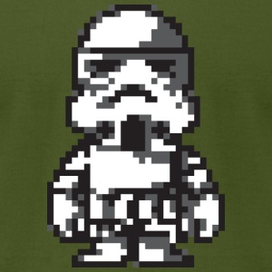 Stormtrooper in 8-bit - Men's T-Shirt by American Apparel