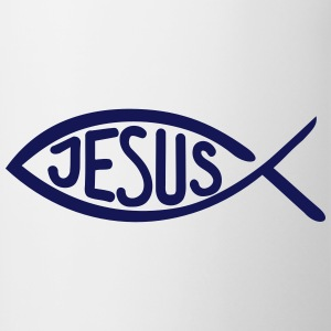 Jesus Fish Bottles & Mugs - Contrast Coffee Mug