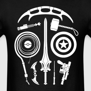 Sci-Fi Weapon Skull T-Shirt - Men's T-Shirt