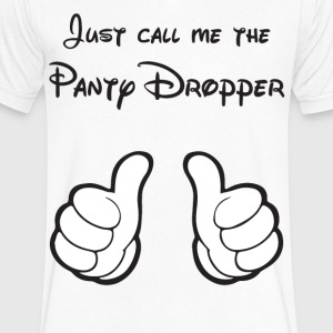 The Panty Dropper V-Neck - Men's V-Neck T-Shirt by Canvas