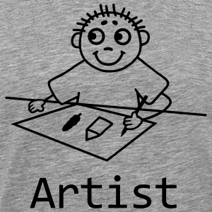 Artist paint a picture  T-Shirts - Men's Premium T-Shirt