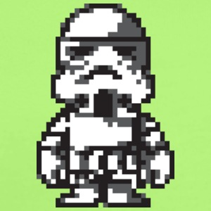 Stormtrooper in 8-bit - Short Sleeve Baby Bodysuit