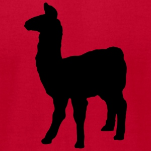 llama domesticated pack animal camel family Andes  T-Shirts - Men's T-Shirt by American Apparel