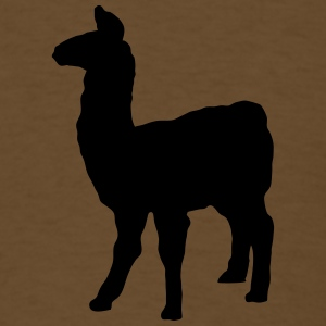 llama domesticated pack animal camel family Andes  T-Shirts - Men's T-Shirt