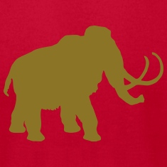 wolly mammoth Pleistocene epoch primeval times Ice T-Shirts