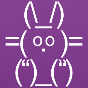 ASCII rabbit bunny hare cony leveret Char Bags & backpacks - Tote Bag