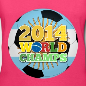 2014 World Champs Ball - Argentina - Women's V-Neck T-Shirt