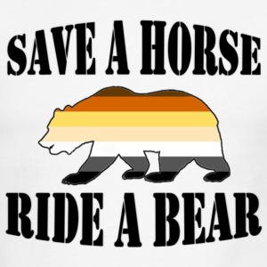 Gay Bear Pride Save A horse ride a bear - Men's Ringer T-Shirt