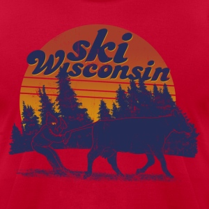 SKI WISCONSIN T-Shirts - Men's T-Shirt by American Apparel