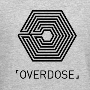EXO Overdose ENG Black Long Sleeve Shirts - Crewneck Sweatshirt