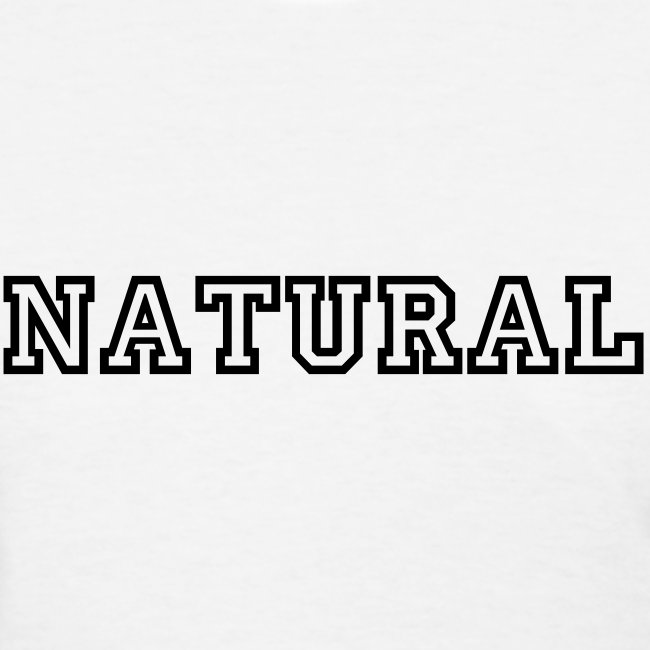 NATURAL standard fit tee