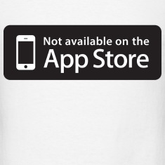 Not available on the App Store - Black T-Shirts