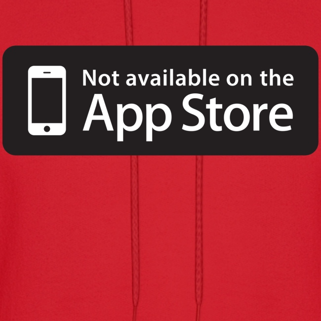 Not available on the App Store - Black
