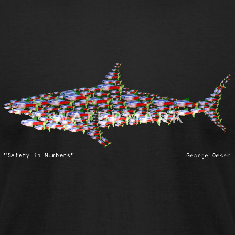 Safety in Numbers - Men's T-Shirt by American Apparel