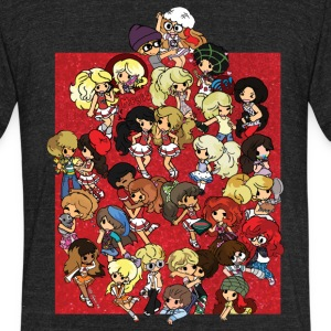 Most Popular Girls MPGIS Cheer T-Shirts - Unisex Tri-Blend T-Shirt by American Apparel
