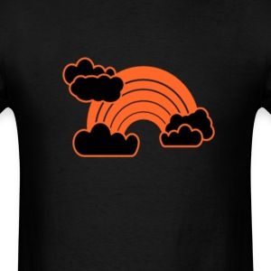 Orange Rainbow & Clouds T-Shirts - Men's T-Shirt