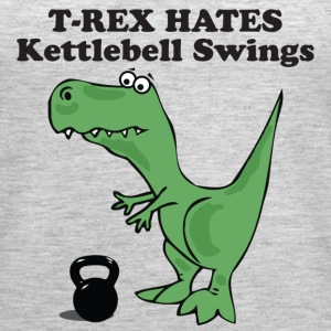 T-Rex Hates Kettlebell Swings - Women's Premium Tank Top