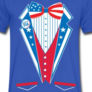 USA America Merica Tuxedo  - Men's V-Neck T-Shirt by Canvas