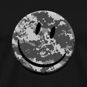 Digital Camo Smiley T-Shirts - Men's Premium T-Shirt