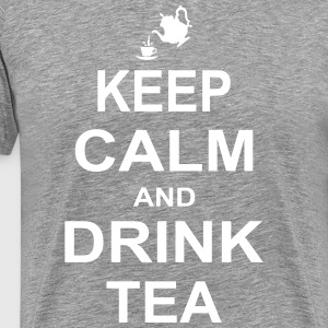 Keep Calm and Drink Tea T-Shirts - Men's Premium T-Shirt