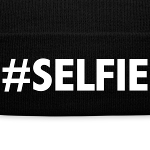 #Selfie Caps - Knit Cap with Cuff Print