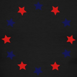 Blue and red stars in a circle, vector T-Shirts - Men's Ringer T-Shirt