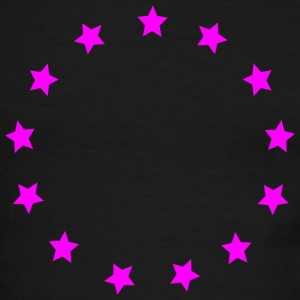 Pink stars in a circle T-Shirts - Men's Ringer T-Shirt