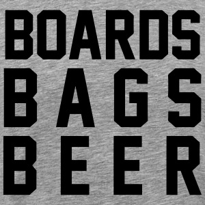 Boards Bags Beer T-Shirts - Men's Premium T-Shirt