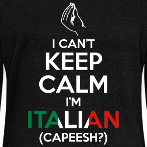 I Can't Keep Calm I'm Italian (Capeesh?) Long Sleeve Shirts - Women's Wideneck Sweatshirt