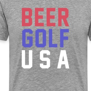 Beer Golf USA T-Shirts - Men's Premium T-Shirt
