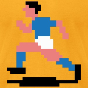 Soccerplayer 8bit - Men's T-Shirt by American Apparel