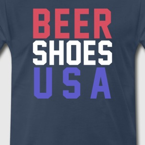 Beer Shoes USA T-Shirts - Men's Premium T-Shirt