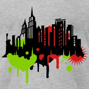 New York Graffiti T-Shirts - Men's T-Shirt by American Apparel